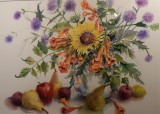 Watercolors by Adele Huestis and Linda Peterson Pollen at the Falmouth Art Center